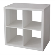Flexi Storage Clever Cube 76 x 39 x 76cm 2x2 Cube Unit - White