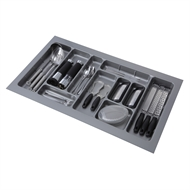 Practa Solutions 485 x 830 x 50mm Grey 10 Section Cutlery Tray