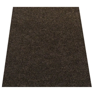 Ideal DIY 67cm Charcoal Oxford Ribbed Carpet Runner - Linear Metre