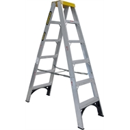 Gorilla 1.8m 150kg Industrial Double Sided Aluminium Step Ladder