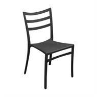 Tusk Living Charcoal Lines Cafe Chair