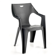 Marquee Kreta Anthracite Low Back Resin Chair