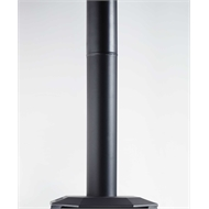 Scandia 1m Black Sleek Flue Extension Kit