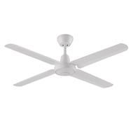 Threesixty 52 Inch White Velocity Ceiling Fan