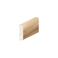 Porta 20 x 5mm 3.0m Tasmanian Oak Moulding Rounded Edge Coverstrap