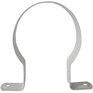 Kinetic 80mm White Saddle Stand Off Clips - 4 Pack