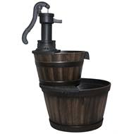 Water Magic 48 x 67cm Oakden Barrel Water Fountain