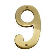 Sandleford 150mm Brass Numeral 9