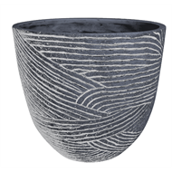 Northcote Pottery 400 x 300mm Dust Grey Linear Egg Pot
