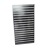 Protector Aluminium 900 x 1750mm Black Easy Screen Welded Slat Panel