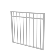 Protector Aluminium 975 x 900mm Double Top Rail All Up Garden Gate - To Suit Self Closing Hinges - Surfmist