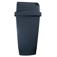 Icon Plastics 59L Charcoal Push Top Tidy Bin