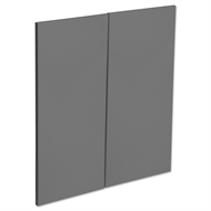 Kaboodle Smoked Grey Modern Corner Base Cabinet Door - 2 Pack