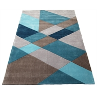 The Estate Collection 160 x 230cm Vista Diagonal Blue Rug