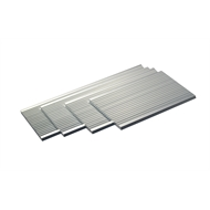 Metal Mate 60 x 3.0mm 1m Aluminium Section Fluted Strip