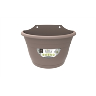 Northcote Pottery 380mm Taupe Villa Plastic Wall Planter