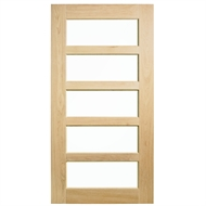Corinthian Doors 1200 x 2340 x 40mm Blonde Oak AWOWS 5G Translucent Glass Entrance Door