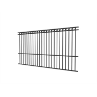 Protector Aluminium 2450 x 1800mm Custom Double Top Rail All Rings Pool Fence Panel