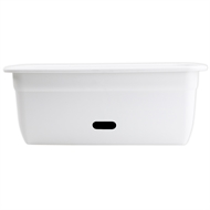 HomeLeisure 450mm White Rectangular Contemporary WaterSaver Planter