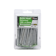 Paslode 100 x 4.5mm 500g Galvanised Bullet Head Nails - 30 Pack