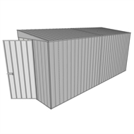 Build-a-Shed 1.5 x 4.5 x 2m Hinged Door Tunnel Shed without Side Doors - Zinc