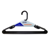 Braiform Australia Black Tubular Clothes Hangers - 10 Pack