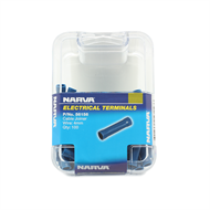 Narva 4mm Blue Electrical Terminal Cable Joiner - 100 Pack