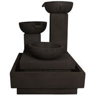 Northcote Pottery Charcoal Trio Cascading Fountain