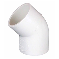 Press 50mm 45 deg PVC Elbow