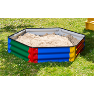 Birdies 4 Kids 1.1m Hexagonal Sandpit