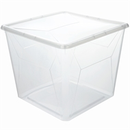 Ezy Storage 16L Clear Karton Storage Container With Snap On Lid
