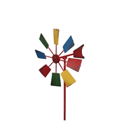 Lotus Collection 90cm Multicolour Windmill Garden Stake