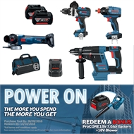 Bosch Professional 18V Brushless 4 Piece Cordless Combo Kit