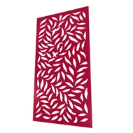 Protector Aluminium 1200 x 2400mm ACP Large Leaf Decorative Panel Unframed - Light Red
