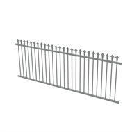 Protector Aluminium 2450 x 900mm J Spear Top Fence Panel - Woodland Grey