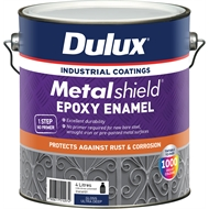 Dulux Metalshield 4L Ultra Deep Base Topcoat Epoxy Enamel Paint