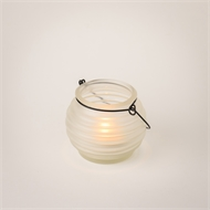 Classic Frosted White Honey Pot Lantern
