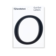 Sandleford 80mm Black Goudy Cut Out Self Adhesive Letter O