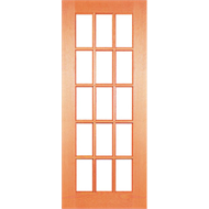 Woodcraft Doors 2040 x 820 x 40mm Flash Modern French Clear Bevelled Glass Entrance Door
