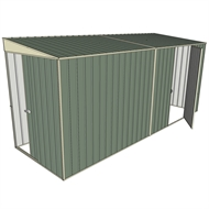 Build-a-Shed 1.5 x 4.5 x 2m Sliding Door Tunnel Shed with Side Door - Green