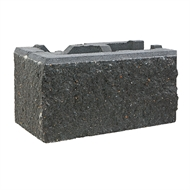 Adbri Masonry 390 x 200 x 215mm Charcoal Versawall Right Corner Block