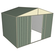 Build-a-Shed 3.0 x 2.3 x 2.3m Double Sliding Door Shed - Green