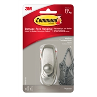 Command 1.3kg Medium Silver Timeless Hook - 1 Pack