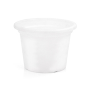 Eden 15cm Transparent White Plastic Cylinder Pot