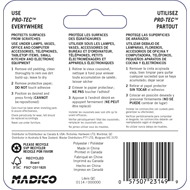 Madico 13mm Brown Felt Self-Stick Surface Savers - 12 Pack