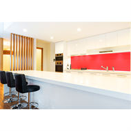 Bellessi 200 x 600 x 6mm Glass Splashback - Hot Rod