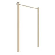 Austral 1.3m Classic Cream Fold Down Clothesline Ground Mount Kit