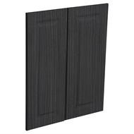 Kaboodle Black Forest Heritage Corner Wall Cabinet Doors - 2 Pack
