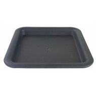 HomeLeisure Charcoal Square Balconia Saucer -