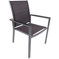 Hartman Graphite / Peppercorn Aluminium Portsea Dining Chair